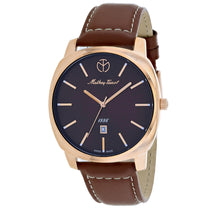 Mens's Grey Smart Leather Analogue Mathey Tissot Watch H6940PM