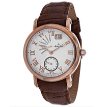 Mens's Brown Retrograde Leather Analogue Mathey Tissot Watch H7020PI