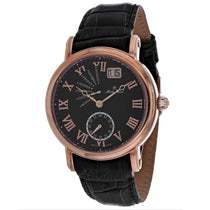 Mens's Black Retrograde Leather Analogue Mathey Tissot Watch H7020PN