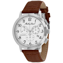Mens's Brown Classic Leather Analogue Mathey Tissot Watch H9315CHALG