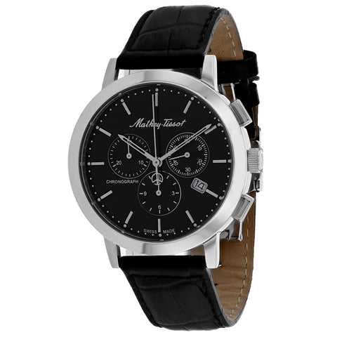 Mens's Black Classic Leather Analogue Mathey Tissot Watch H9315CHALN
