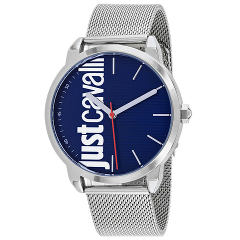 Men's Silver Forte Stainless Steel Analogue Just Cavalli Watch JC1G079M0055
