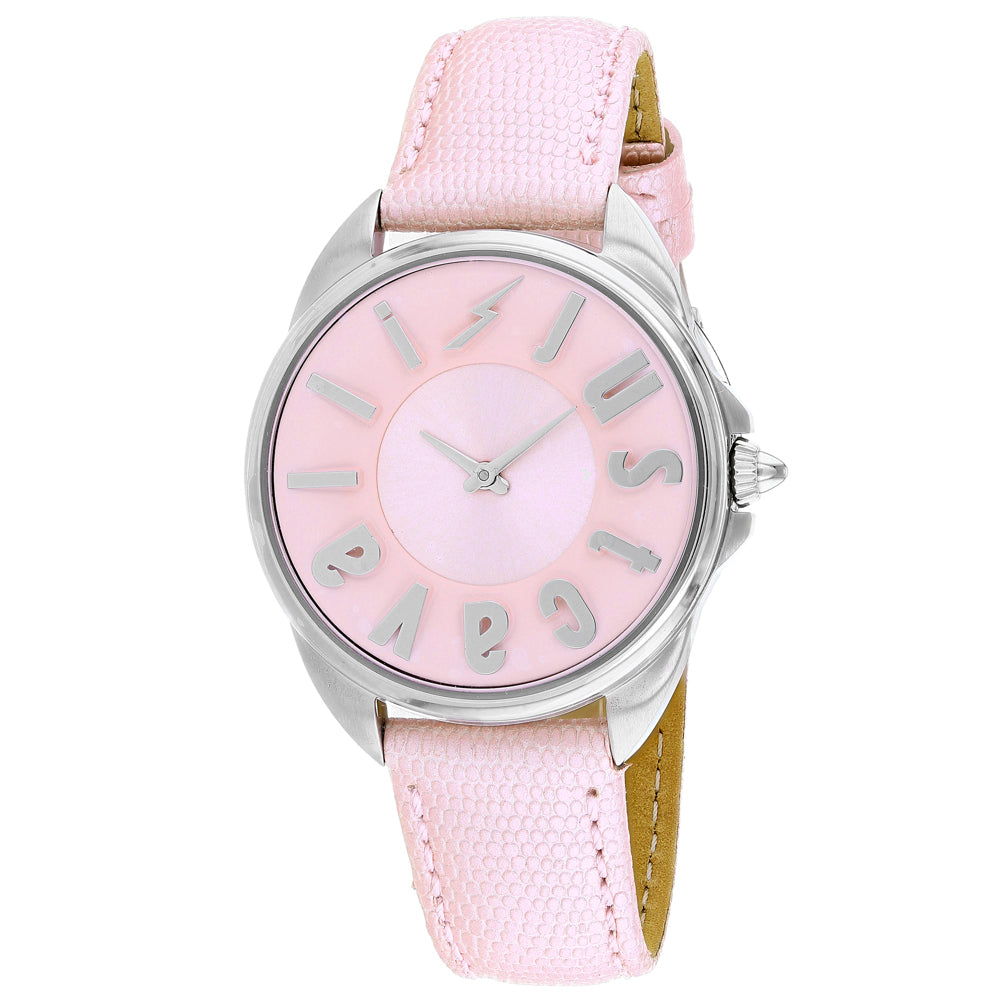 Ladies Pink Logo Leather Analogue Just Cavalli Watch JC1L008L0035