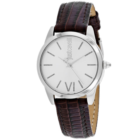 Ladies Brown Relaxed Leather Analogue Just Cavalli Watch JC1L010L0015