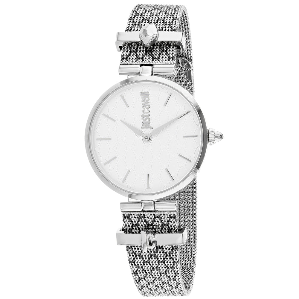 Ladies Silver Trama Stainless Steel Analogue Just Cavalli Watch JC1L060M0055