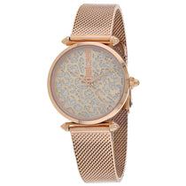 Ladies Rose Gold Animalier Stainless Steel Analogue Just Cavalli Watch JC1L085M0075