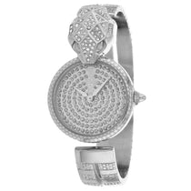 Ladies Silver Glam Chic Snake Stainless Steel Analogue Just Cavalli Watch JC1L086M0015