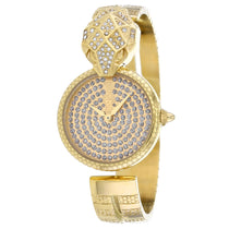 Ladies Gold Glam Chic Snake Stainless Steel Analogue Just Cavalli Watch JC1L086M0025