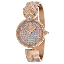 Ladies Rose Gold Glam Chic Snake Stainless Steel Analogue Just Cavalli Watch JC1L086M0035