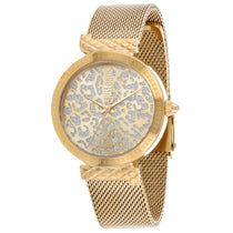 Ladies Gold Animalier Stainless Steel Analogue Just Cavalli Watch JC1L092M0065