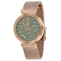 Ladies Rose Gold Animalier Stainless Steel Analogue Just Cavalli Watch JC1L092M0075