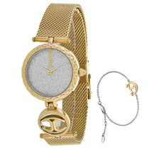 Ladies Gold Mini Stainless Steel Analogue Just Cavalli Watch JC1L103M0105