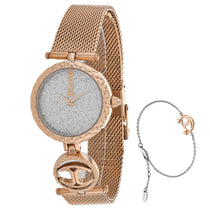 Ladies Rose Gold Mini Stainless Steel Analogue Just Cavalli Watch JC1L103M0115