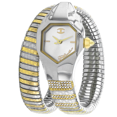 Ladies Glam Snake Stainless Steel Analogue Just Cavalli Watch JC1L113M0045