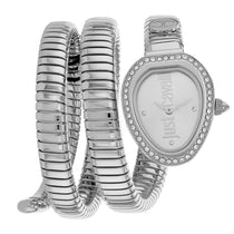 Ladies Grey Just Glam Evo 3 Stainless Steel Analogue Just Cavalli Watch JC1L120M0015
