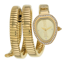 Ladies Gold Just Glam Evo 3 Stainless Steel Analogue Just Cavalli Watch JC1L120M0025
