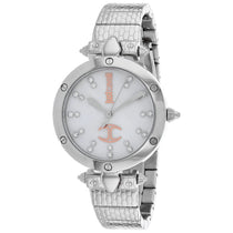 Ladies White Dress Stainless Steel Analogue Just Cavalli Watch JC1L122M0055