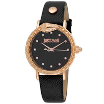 Ladies Black Animalier Leather Analogue Just Cavalli Watch JC1L124L0025