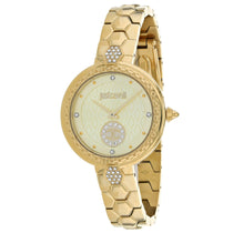 Ladies Gold Classic Set Stainless Steel Analogue Just Cavalli Watch JC1L128M0065
