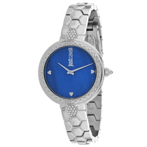 Ladies Blue Classic Set Stainless Steel Analogue Just Cavalli Watch JC1L128M0555