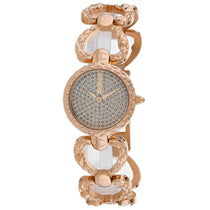 Ladies Rose Gold Dress Stainless Steel Analogue Just Cavalli Watch JC1L132M0085