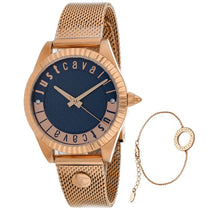 Ladies Rose Gold Classic Set Stainless Steel Analogue Just Cavalli Watch JC1L133M0085