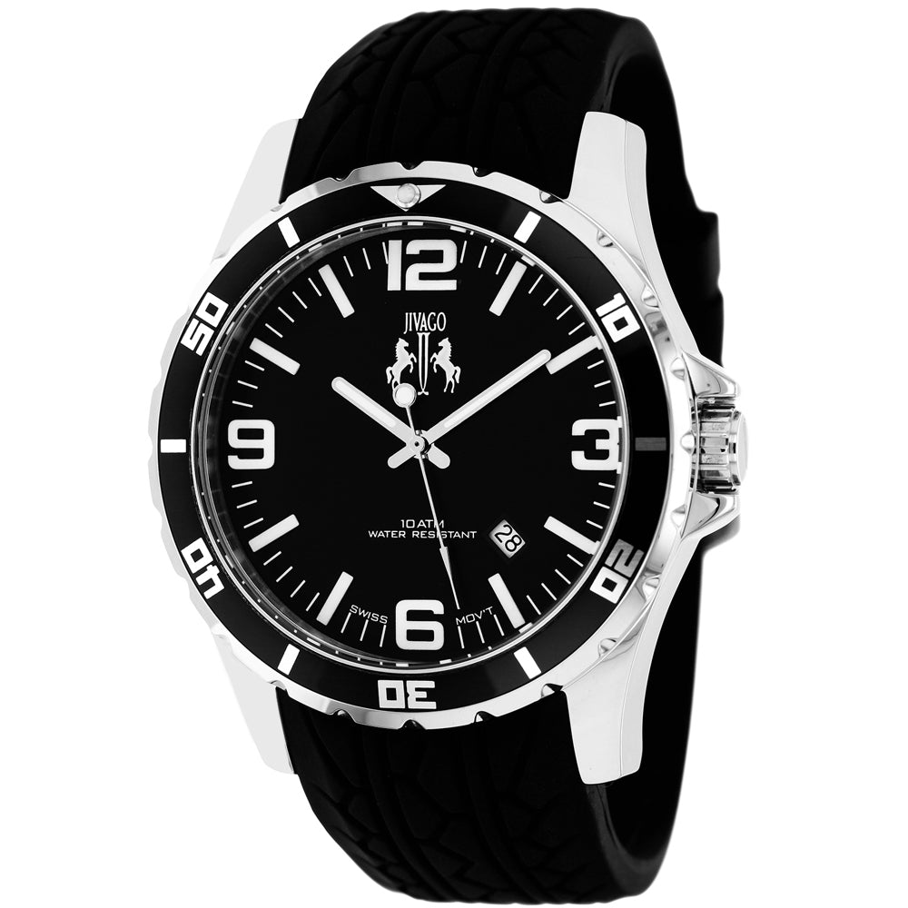 Men's Black Ultimate Rubber Analogue Jivago Watch JV0111
