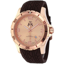 Men's Brown Ultimate Rubber Analogue Jivago Watch JV0112