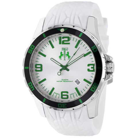 Men's White Ultimate Rubber Analogue Jivago Watch JV0116