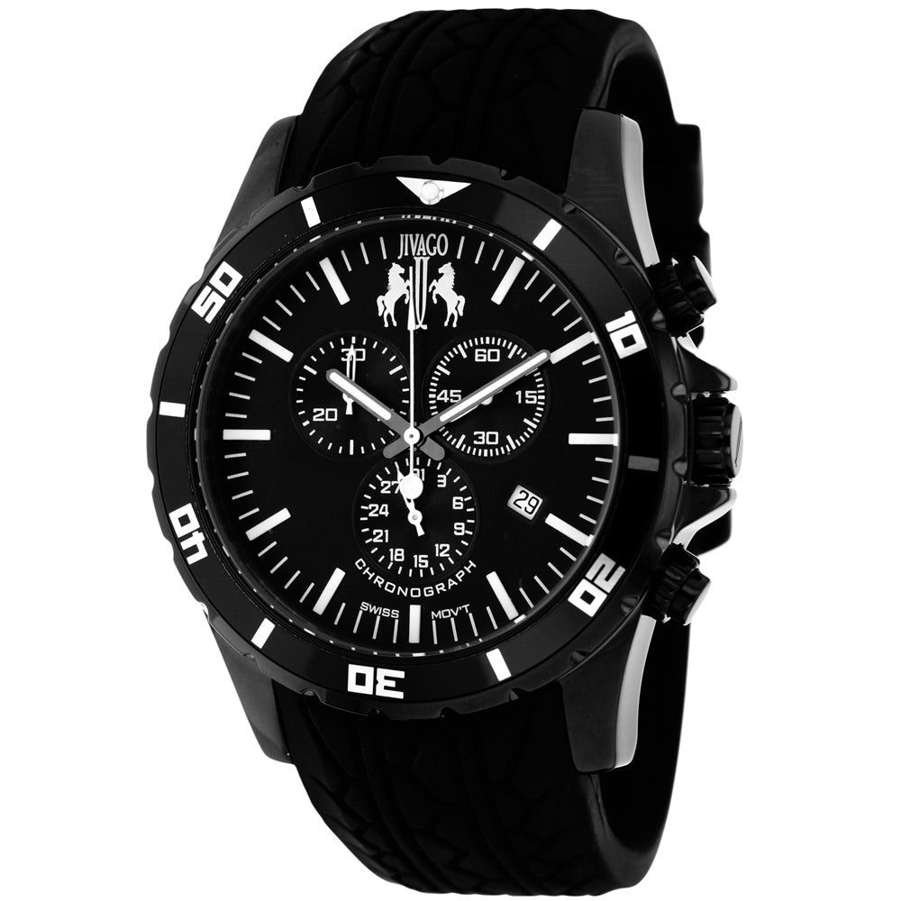 Men's Black Ultimate Rubber Chronograph Jivago Watch JV0120