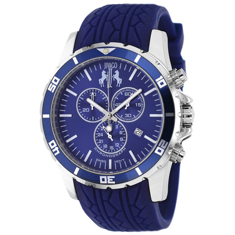 Men's Blue Ultimate Rubber Chronograph Jivago Watch JV0125