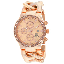 Ladies Rose Gold Lev Stainless Steel Chronograph Jivago Watch JV1227