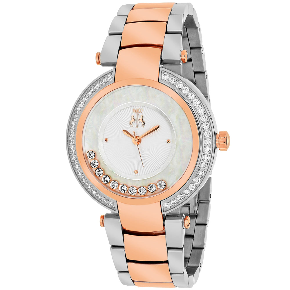 Ladies Rose Gold Celebrate Stainless Steel Analogue Jivago Watch JV1617