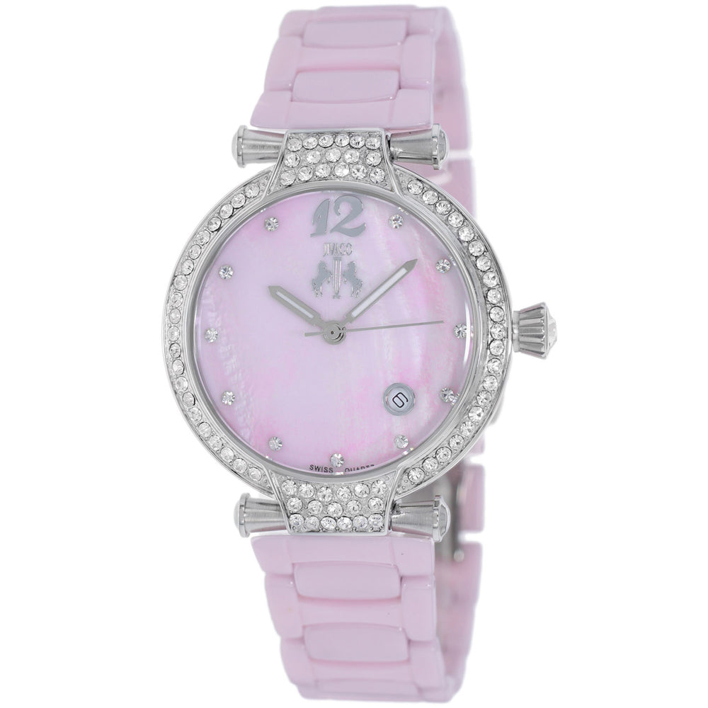 Ladies Pink Bijoux Ceramic Analogue Jivago Watch JV2213