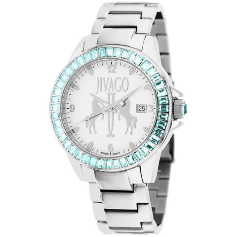 Ladies Silver Folie Stainless Steel Analogue Jivago Watch JV4219