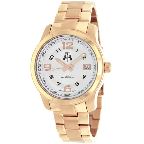 Ladies Rose Gold Infinity Stainless Steel Analogue Jivago Watch JV5215