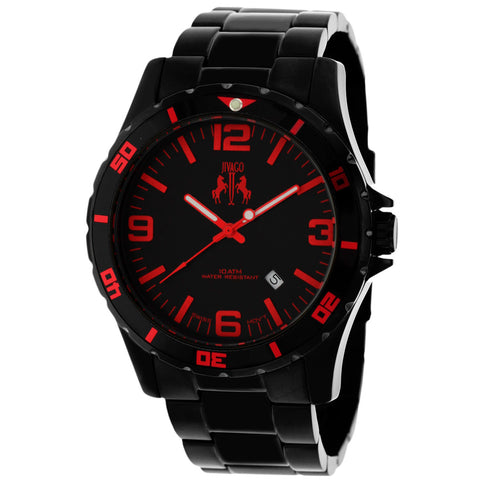 Men's Black Ultimate Stainless Steel Analogue Jivago Watch JV6115