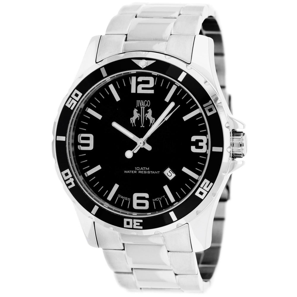 Men's Silver Ultimate Stainless Steel Analogue Jivago Watch JV6117