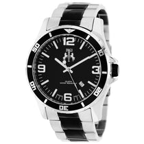 Men's Silver Black Ultimate Stainless Steel Analogue Jivago Watch JV6119