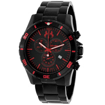 Men's Black Ultimate Stainless Steel Chronograph Jivago Watch JV6126