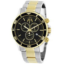 Men's Silver Gold Ultimate Stainless Steel Chronograph Jivago Watch JV6129