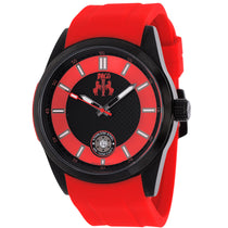 Men's Red Rush Rubber Analogue Jivago Watch JV7133