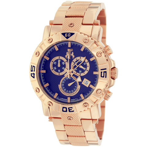 Men's Rose Gold Titan Stainless Steel Chronograph Jivago Watch JV9126