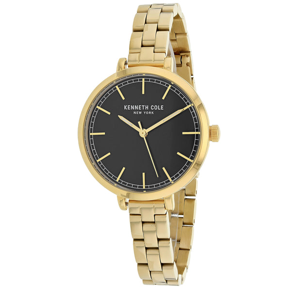 Ladies Gold Classic Stainless Steel Analogue Kenneth Cole Watch KC50263010