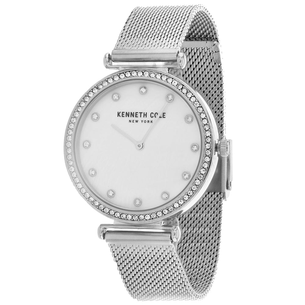 Ladies Silver Classic Stainless Steel Analogue Kenneth Cole Watch KC50927002