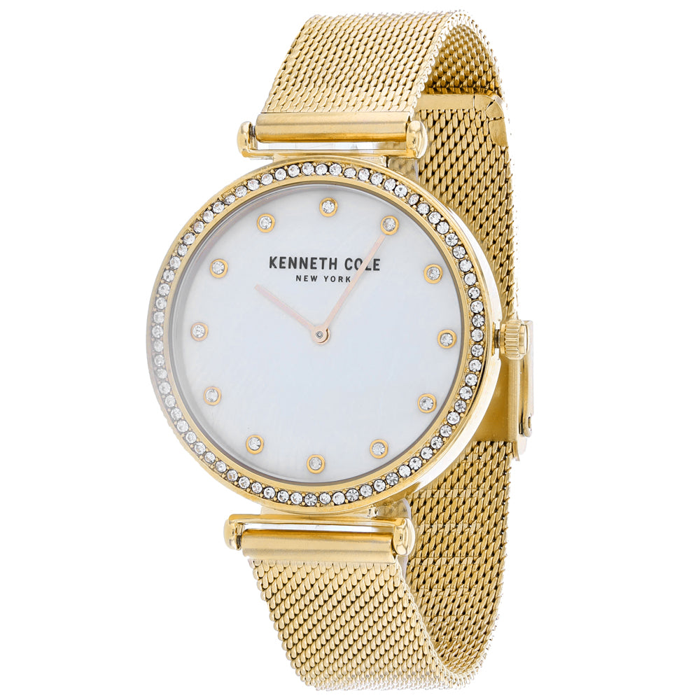 Ladies Gold Classic Stainless Steel Analogue Kenneth Cole Watch KC50927003