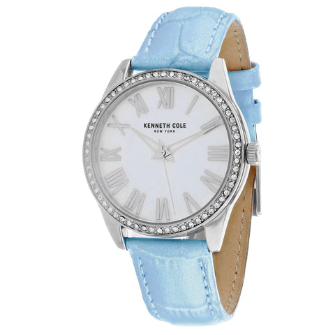 Ladies Blue Classic Leather Analogue Kenneth Cole Watch KC50941002