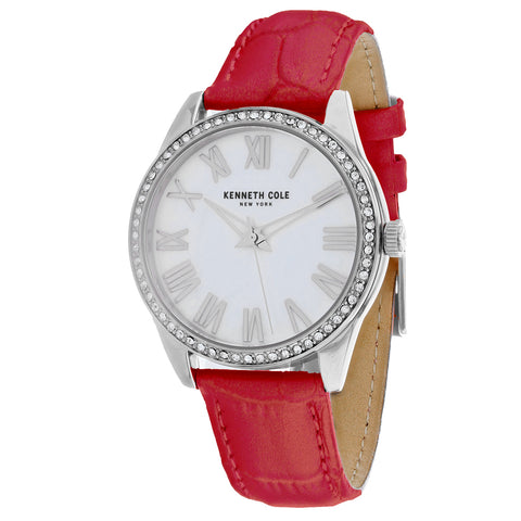 Ladies Red Classic Leather Analogue Kenneth Cole Watch KC50941005