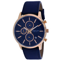 Men's Blue Classic Leather Chronograph Kenneth Cole Watch KC50944003