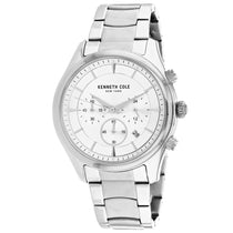 Men's Silver Classic Stainless Steel Chronograph Kenneth Cole Watch KC50946001